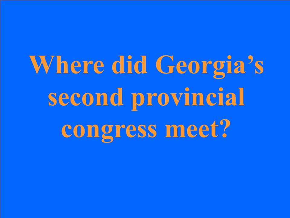 Where did Georgia's second provincial congress meet
