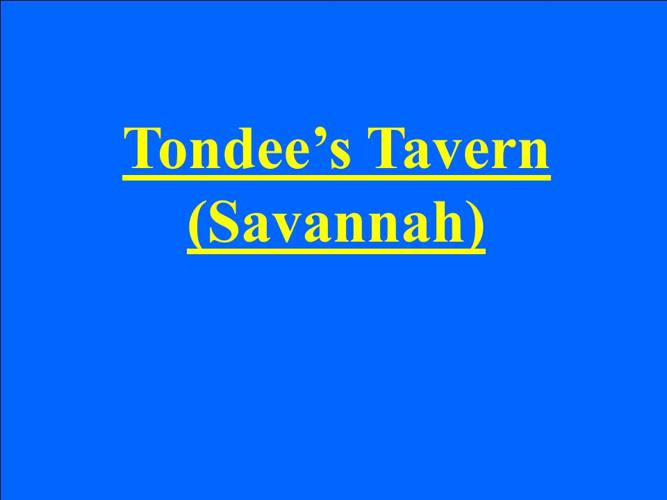 Tondee's Tavern (Savannah)