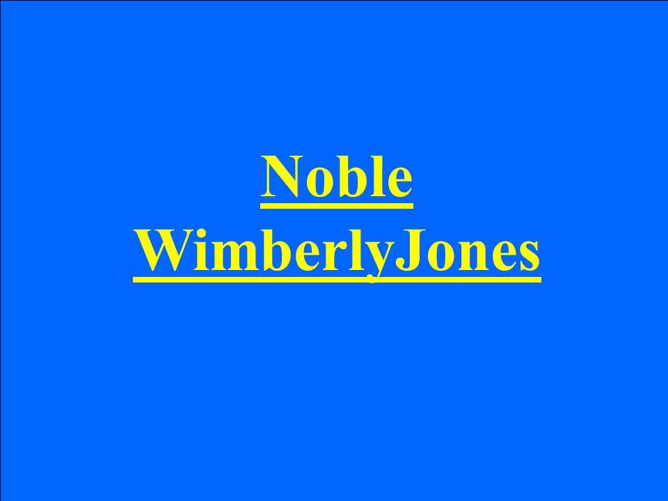 Noble WimberlyJones
