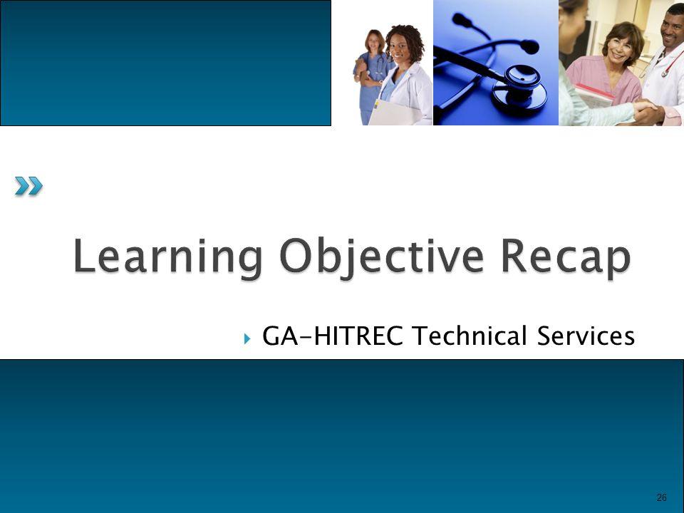  GA-HITREC Technical Services 26