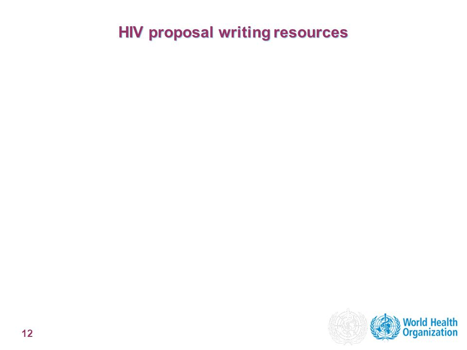 12 HIV proposal writing resources