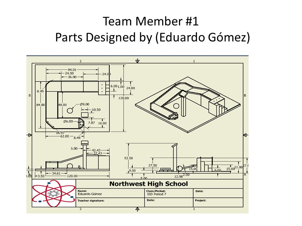 Team Member #1 Parts Designed by (Eduardo Gómez)
