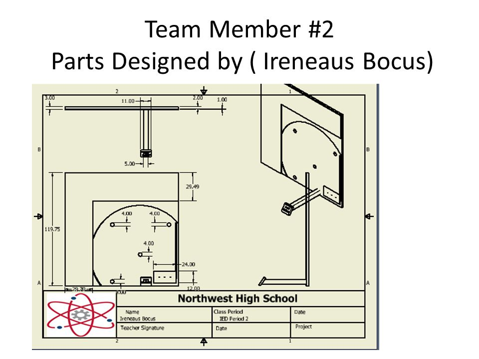 Team Member #2 Parts Designed by ( Ireneaus Bocus)