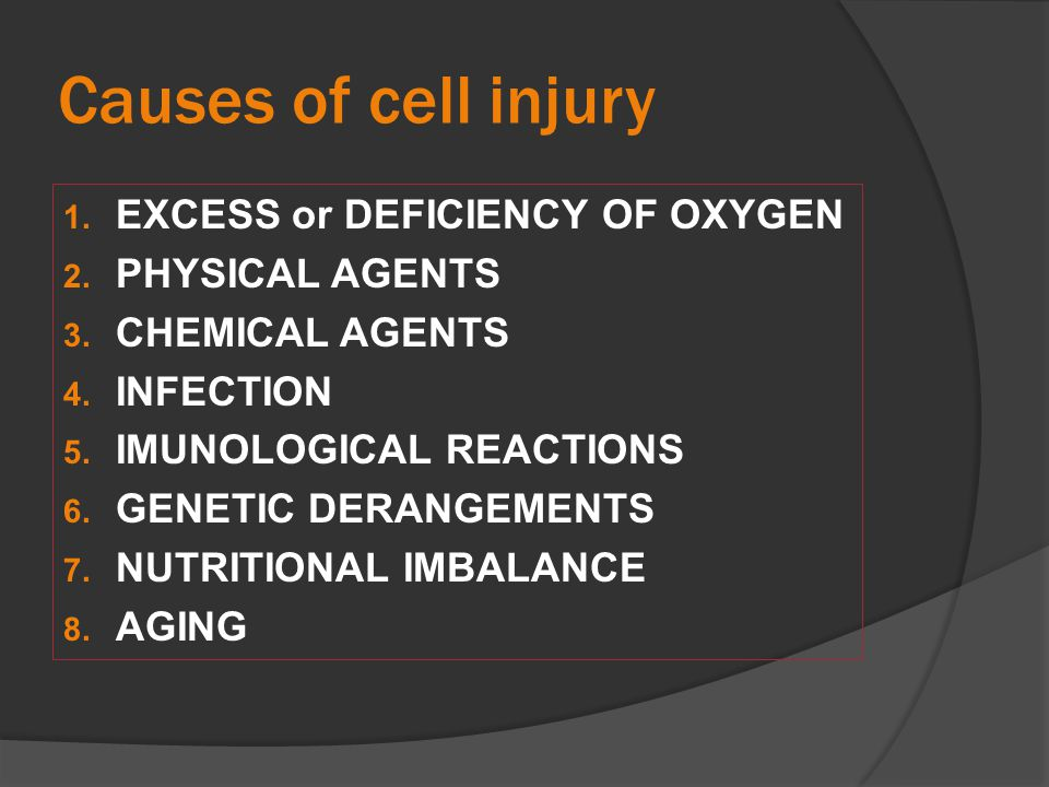 Mechanisms of cell injury (1)Cell membrane damage leading to Loss of structural integrity and Loss of function.