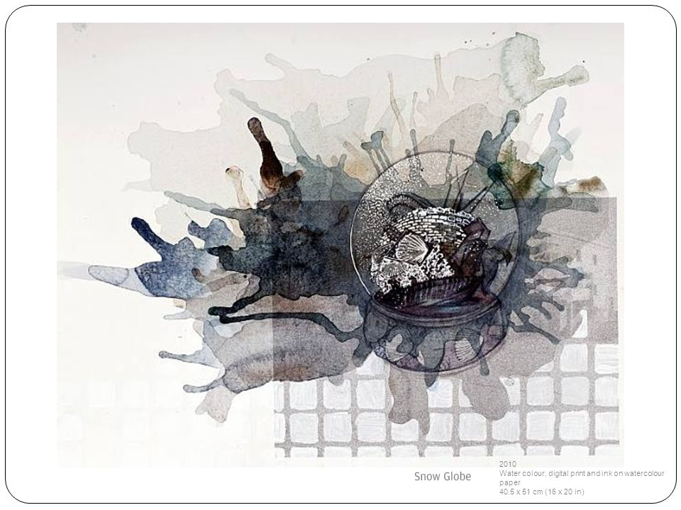 2010 Water colour, digital print and ink on watercolour paper 40.5 x 51 cm (16 x 20 in)