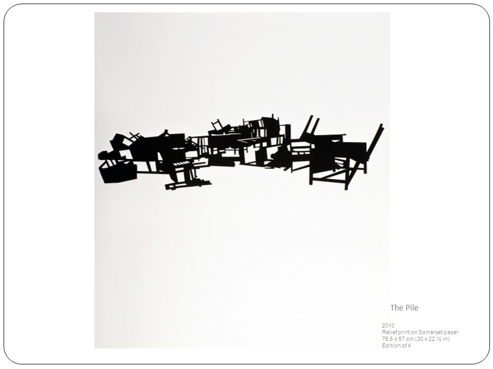 2010 Relief print on Somerset paper 75.5 x 57 cm (30 x 22 ½ in) Edition of 4