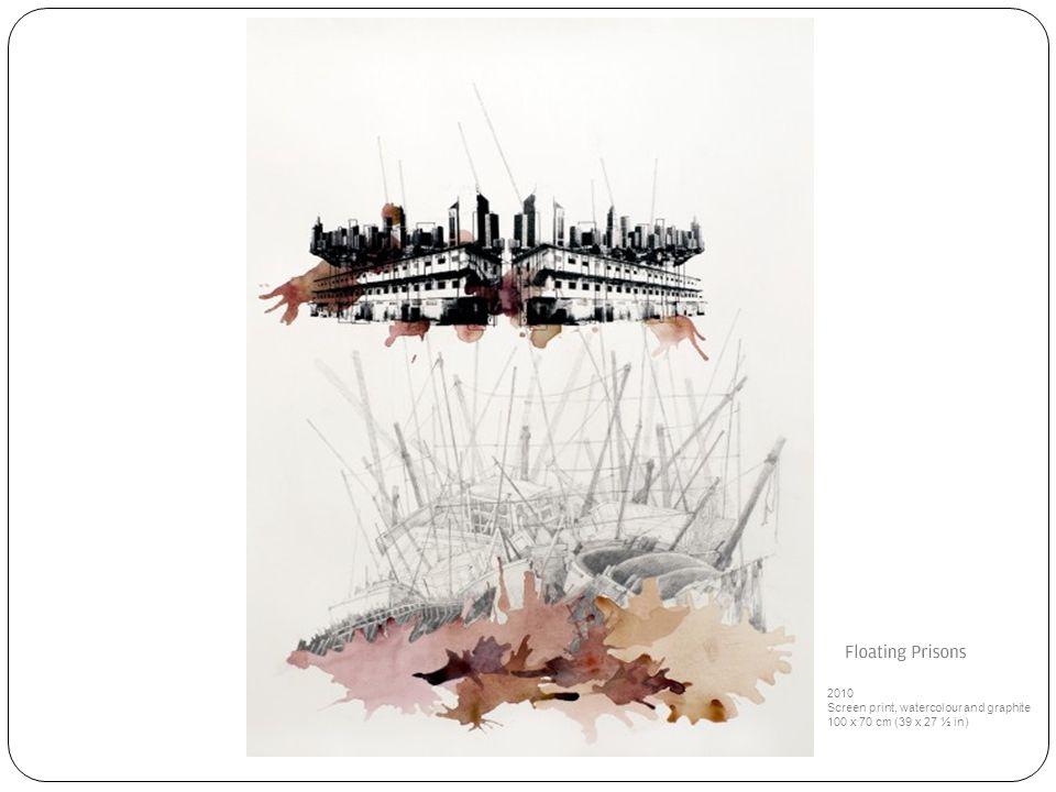 2010 Screen print, watercolour and graphite 100 x 70 cm (39 x 27 ½ in)