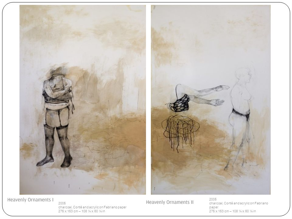2005 charcoal, Conté and acrylic on Fabriano paper 275 x 153 cm – 108 ¼ x 60 ¼ in 2005 charcoal, Conté and acrylic on Fabriano paper 275 x 153 cm – 108 ¼ x 60 ¼ in