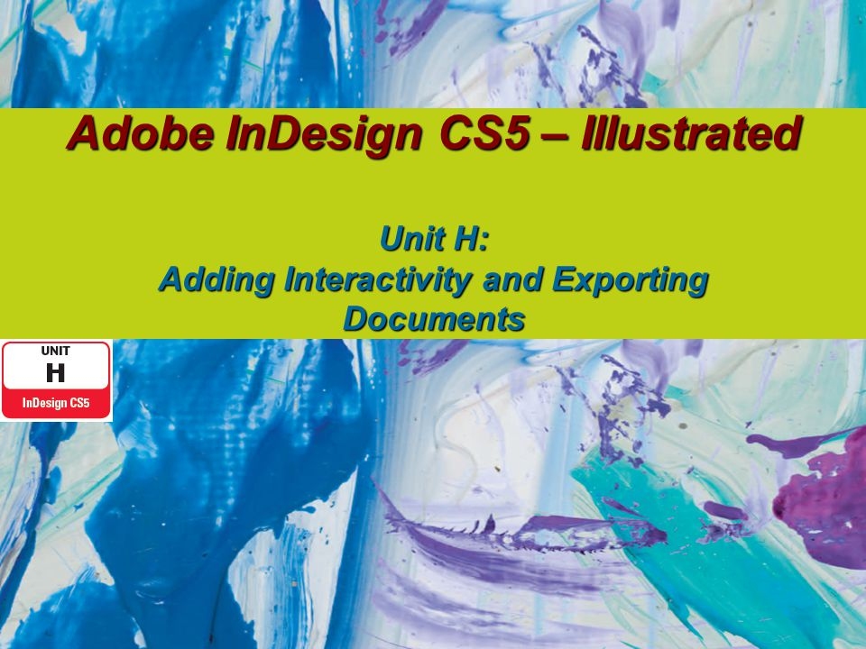 Understanding Export Options for the Web InDesign documents can be exported for use on the Web as:  JPEG (Joint Photographic Experts Group)  Dreamweaver  SWF (Shockwave Flash)  FLA  XML