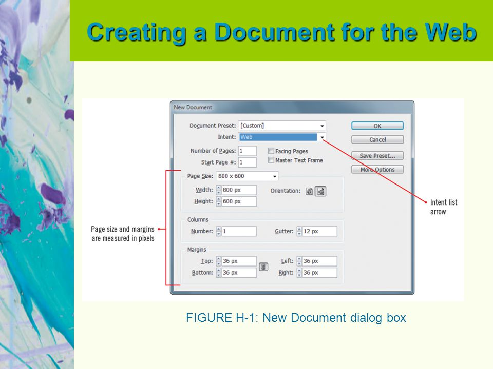 Creating a Document for the Web FIGURE H-2: Viewing the Interactive workspace