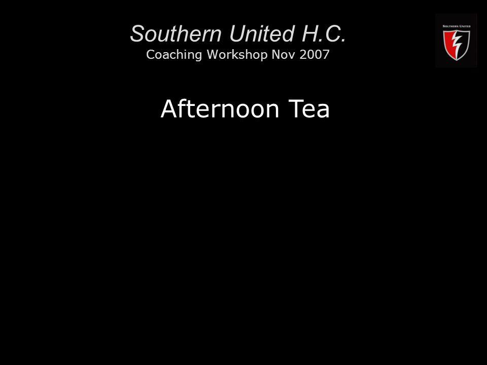 RMIT University16 Southern United H.C. Coaching Workshop Nov 2007 Afternoon Tea