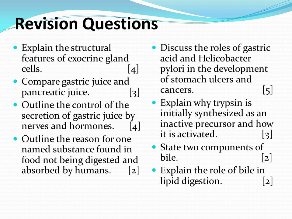 Revision Questions Explain the structural features of exocrine gland cells.