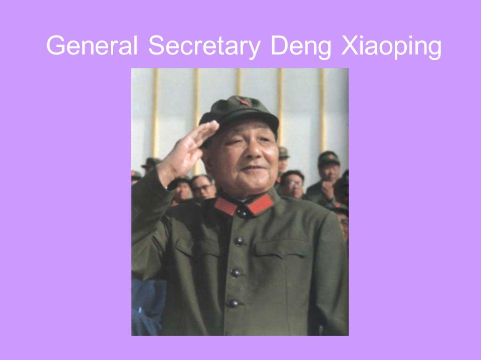 General Secretary Deng Xiaoping