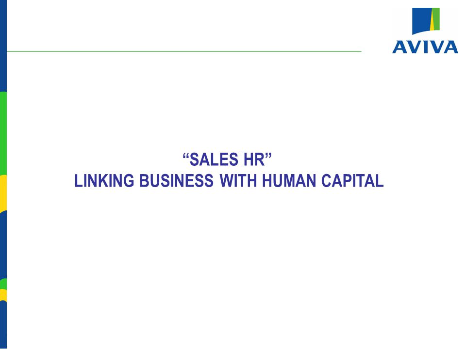 SALES HR LINKING BUSINESS WITH HUMAN CAPITAL
