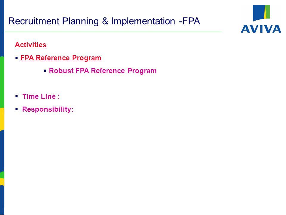 FPA Recruitment Planning & Implementation FPA Recruitments -  Job Fairs Participation.