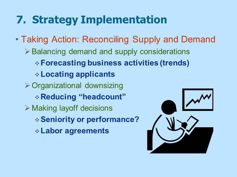 7. Strategy Implementation Taking Action: Reconciling Supply and Demand  Balancing demand and supply considerations  Forecasting business activities