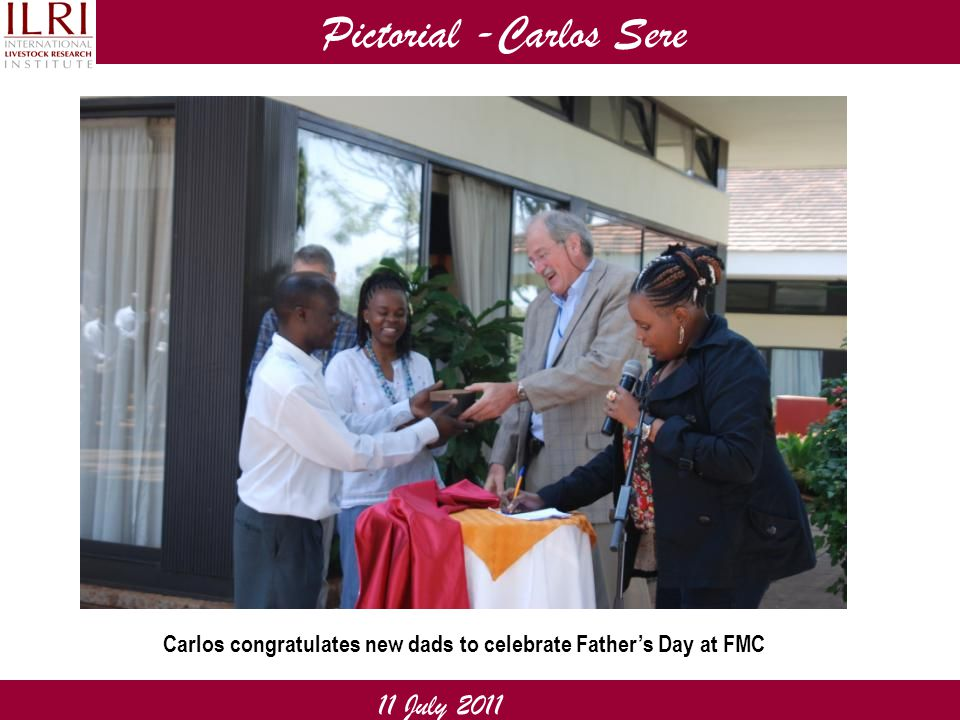Pictorial -Carlos Sere 11 July 2011 Carlos congratulates new dads to celebrate Father's Day at FMC