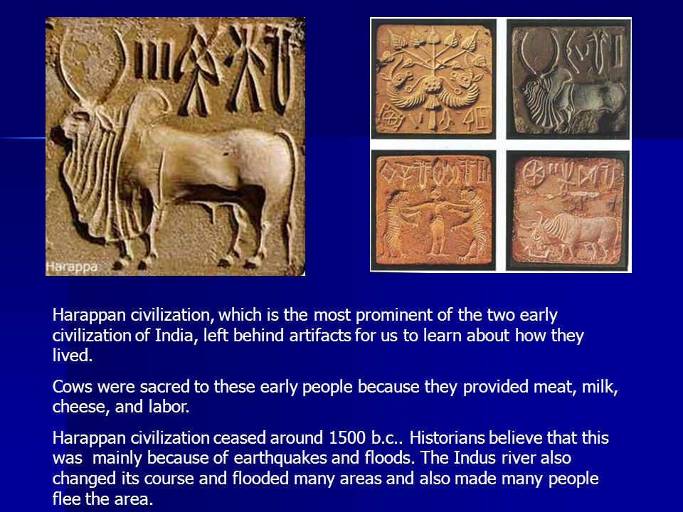 Harappan civilization, which is the most prominent of the two early civilization of India, left behind artifacts for us to learn about how they lived.