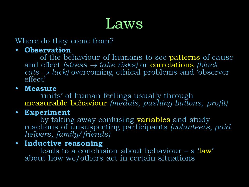 Laws Where do they come from.