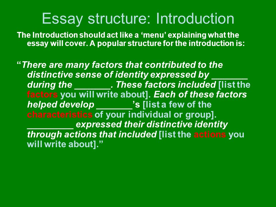 Essay structure: Basic outline of paragraphs 1.Introduction 2.Characteristics 3.Characteristics 4.Development 5.Development 6.Expression 7.Expression 8.Expression 9.Conclusion