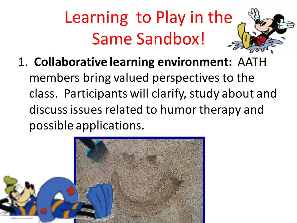 Learning to Play in the Same Sandbox. 1.