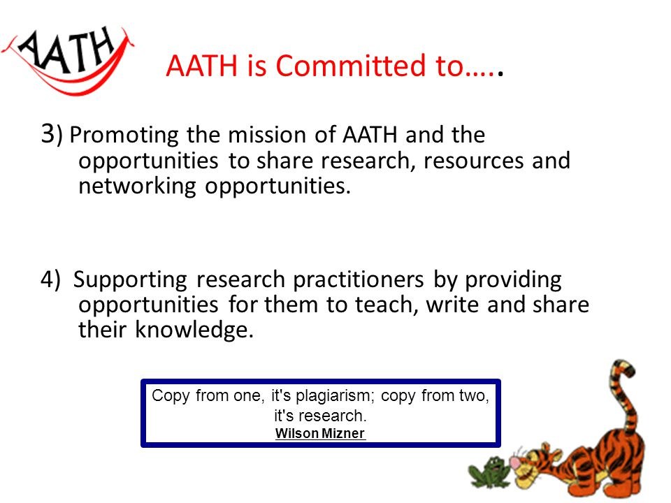 AATH is Committed to…..