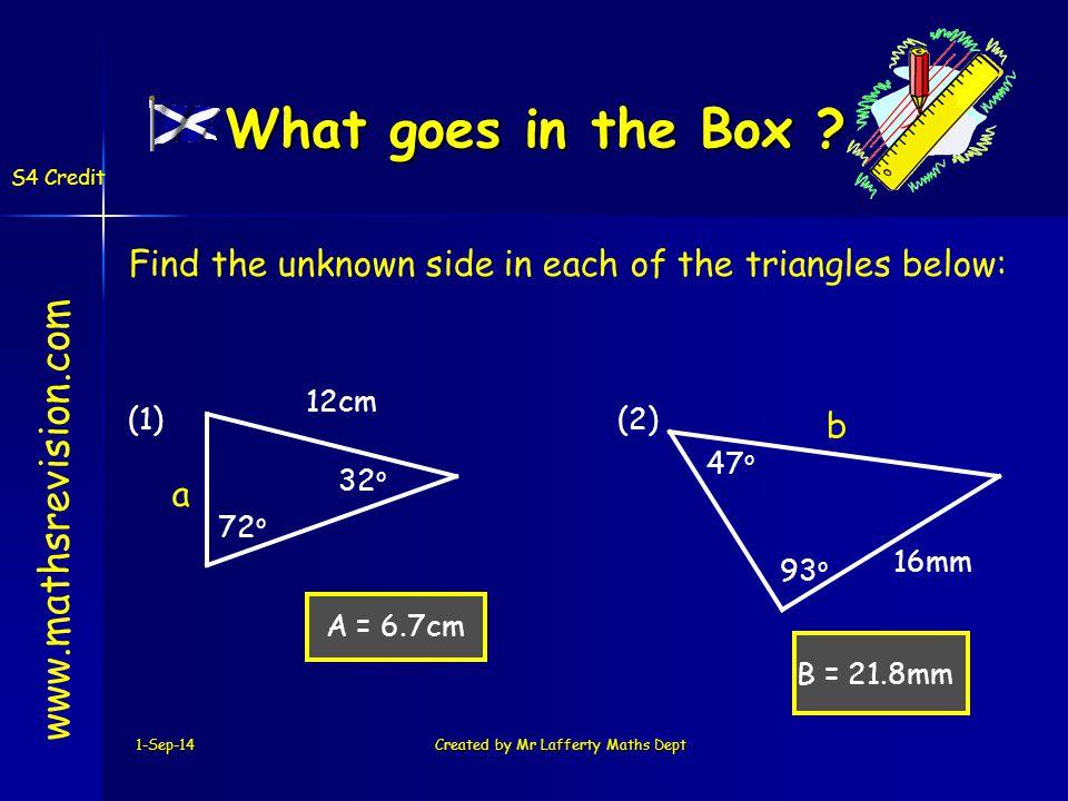 1-Sep-14Created by Mr.Lafferty Maths Dept.