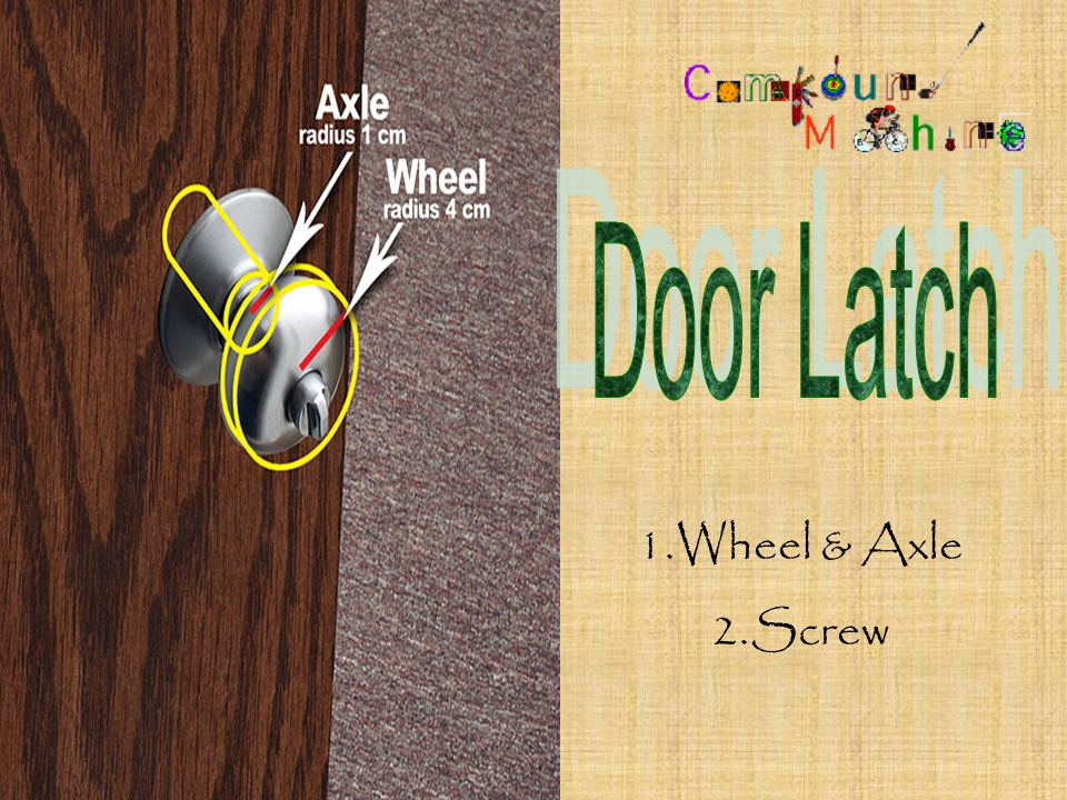 1.Wheel and Axle 2.Pulley