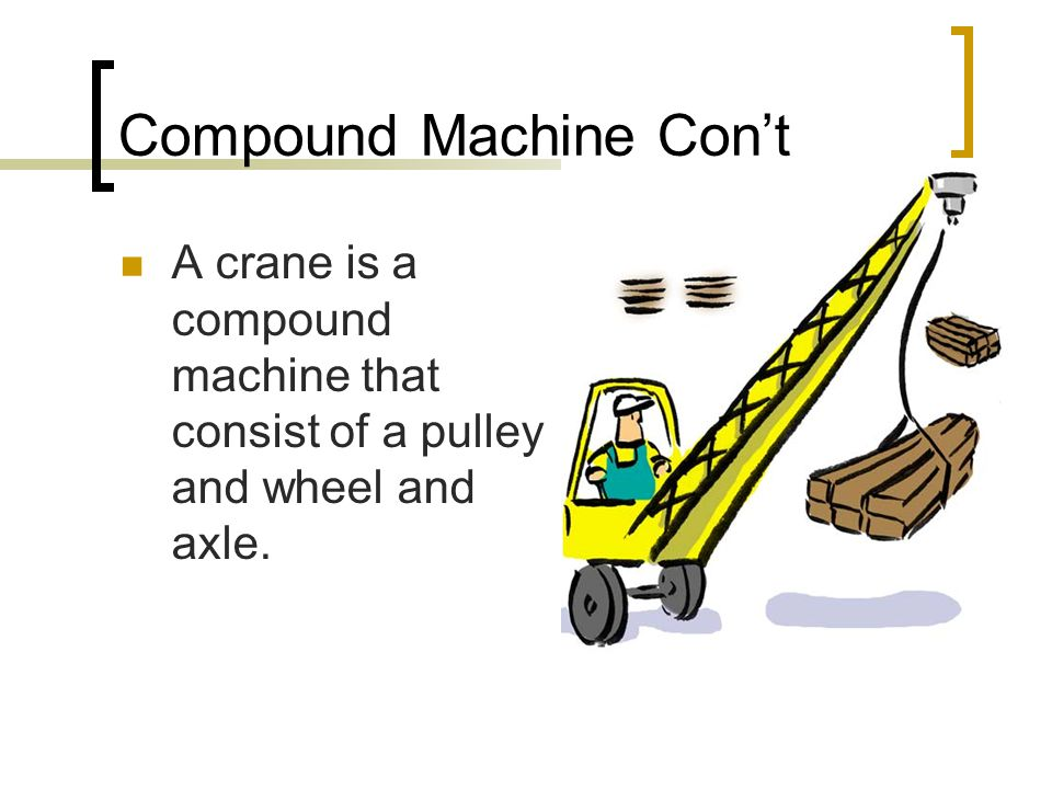 Compound Machine This compound machine is made up of three fixed and two moveable  If you take the weight divided by the number of ropes minus one.
