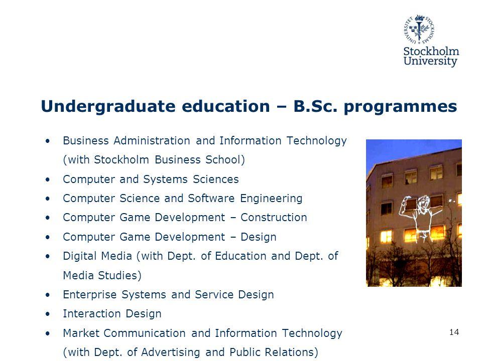 Undergraduate education – B.Sc.