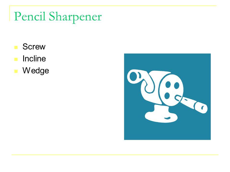 Pencil Sharpener Screw Incline Wedge