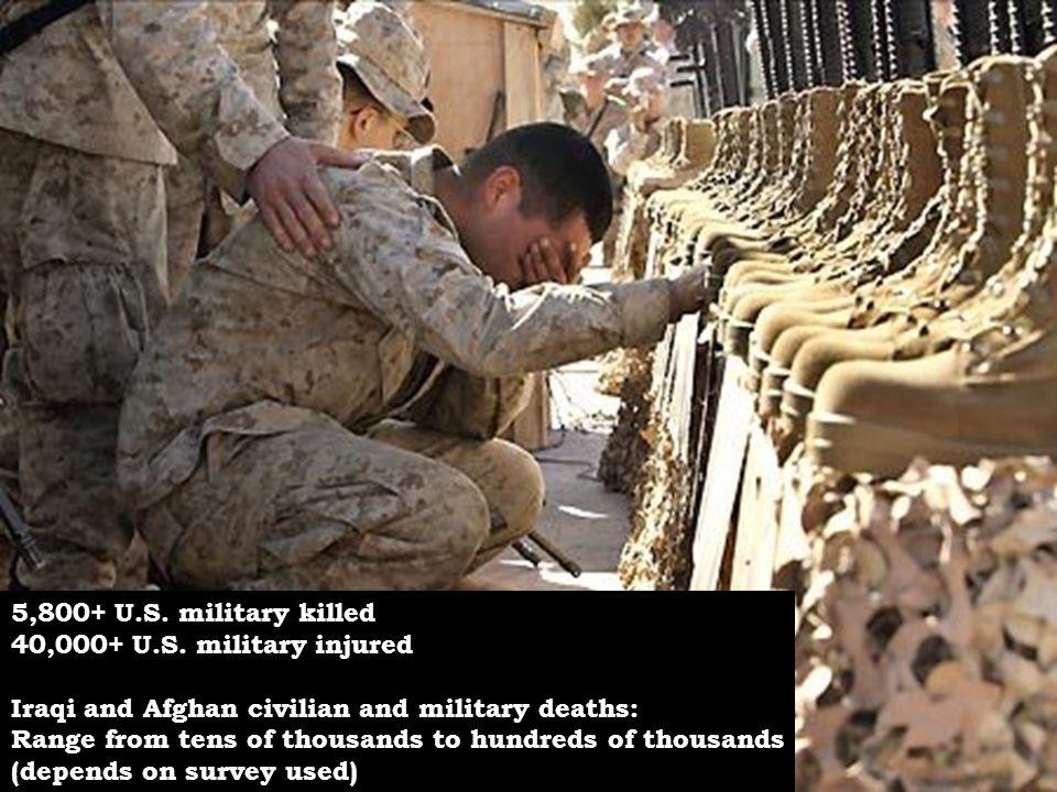 5,800+ U.S.military killed 40,000+ U.S.