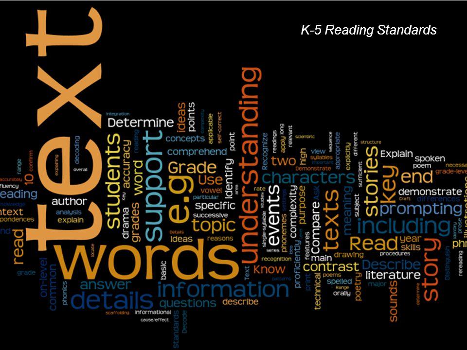 K-5 Reading Standards