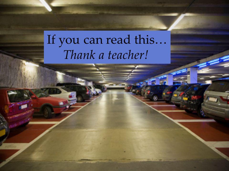 Thank a teacher!