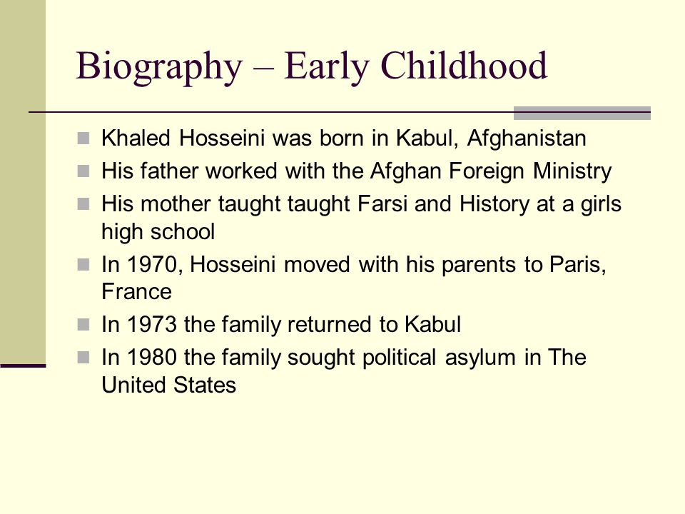 Biography - Education Hosseini graduated high school in 1984 Obtained his bachelor's degree in biology from Santa Clara University in 1988 Earned his medical degree in 1993 from the University of California