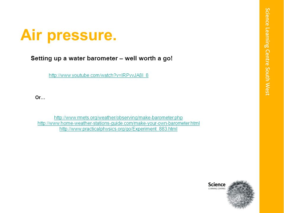 Air pressure.