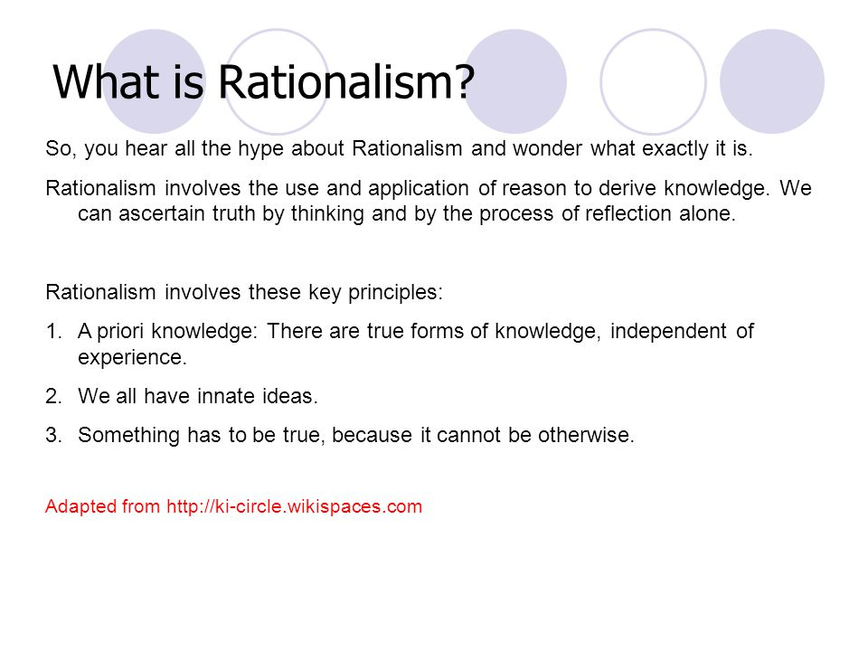 What is Rationalism. So, you hear all the hype about Rationalism and wonder what exactly it is.