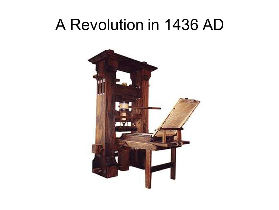A Revolution in 1436 AD