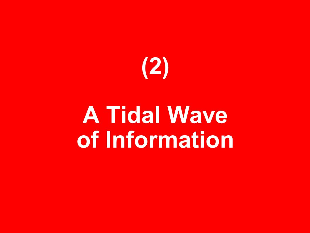 (2) A Tidal Wave of Information