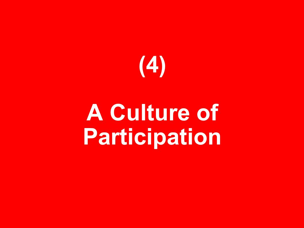 (4) A Culture of Participation
