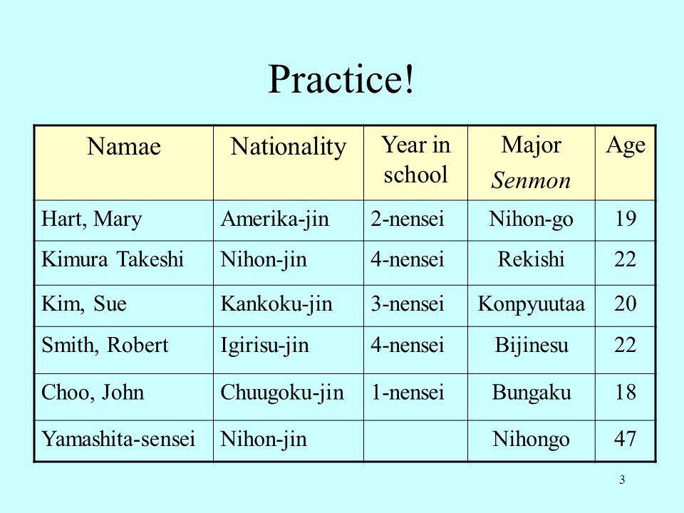 3 Practice.