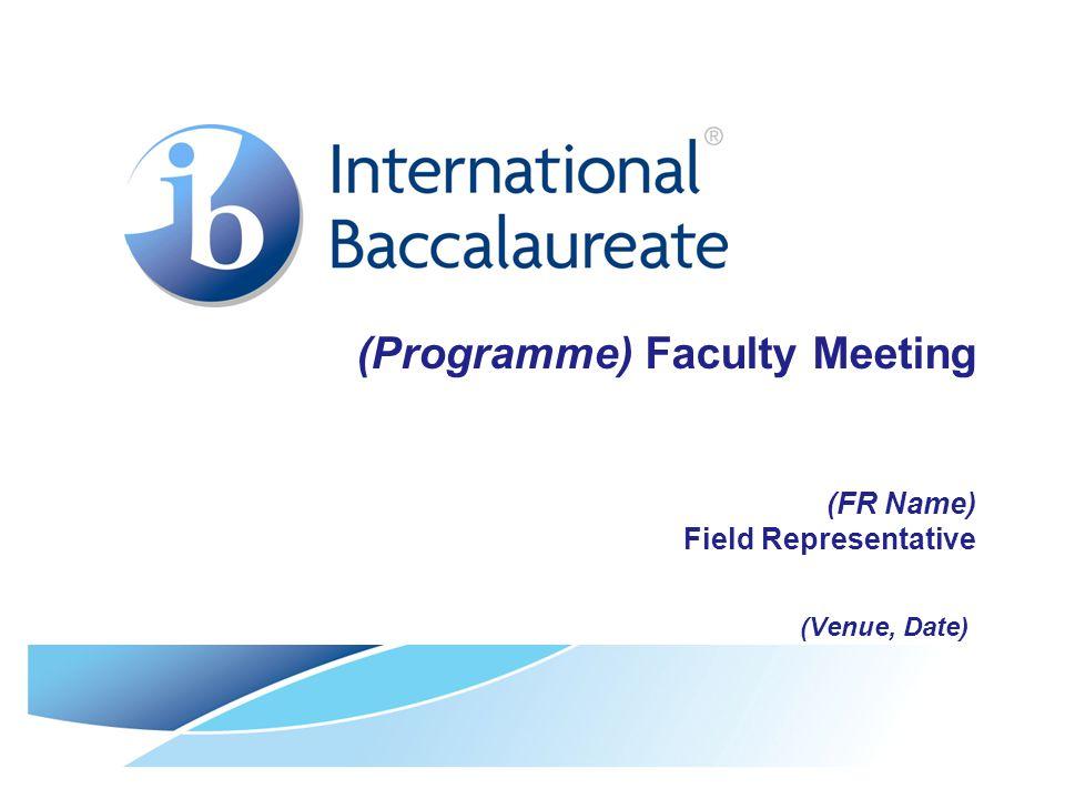 © International Baccalaureate Organization 2007 Agenda  Introductions  Quality Assurance Protocols  News from the IB  Workshops Logistics  AoB
