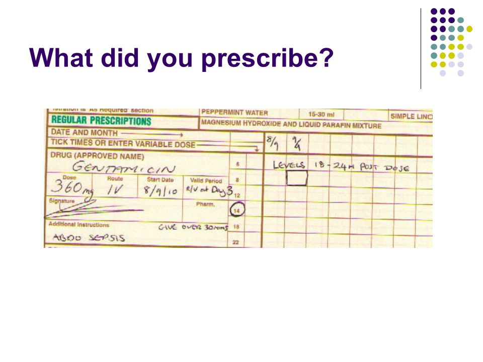 What did you prescribe?