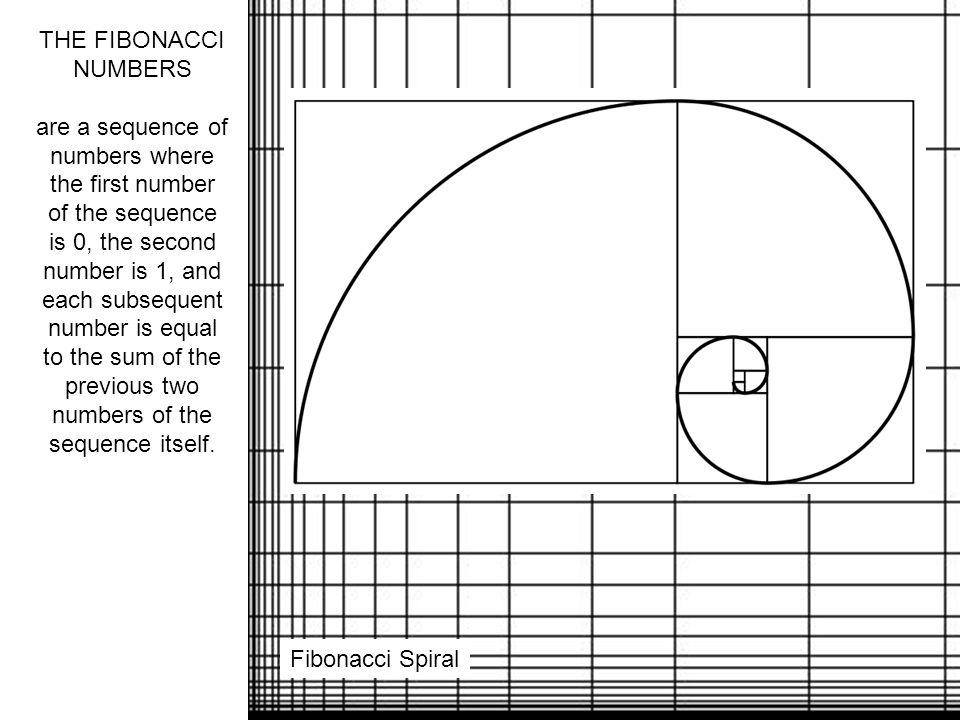 THE FIBONACCI NUMBERS are a sequence of numbers where the first number of the sequence is 0, the second number is 1, and each subsequent number is equal to the sum of the previous two numbers of the sequence itself.