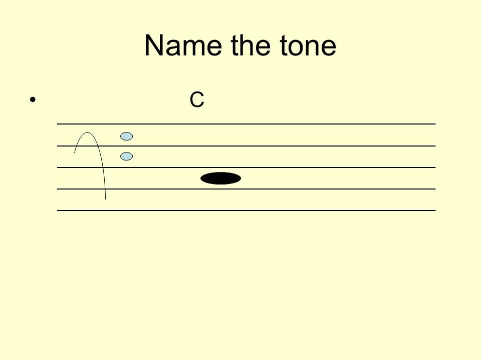 Name the tone C _________________________________________________________