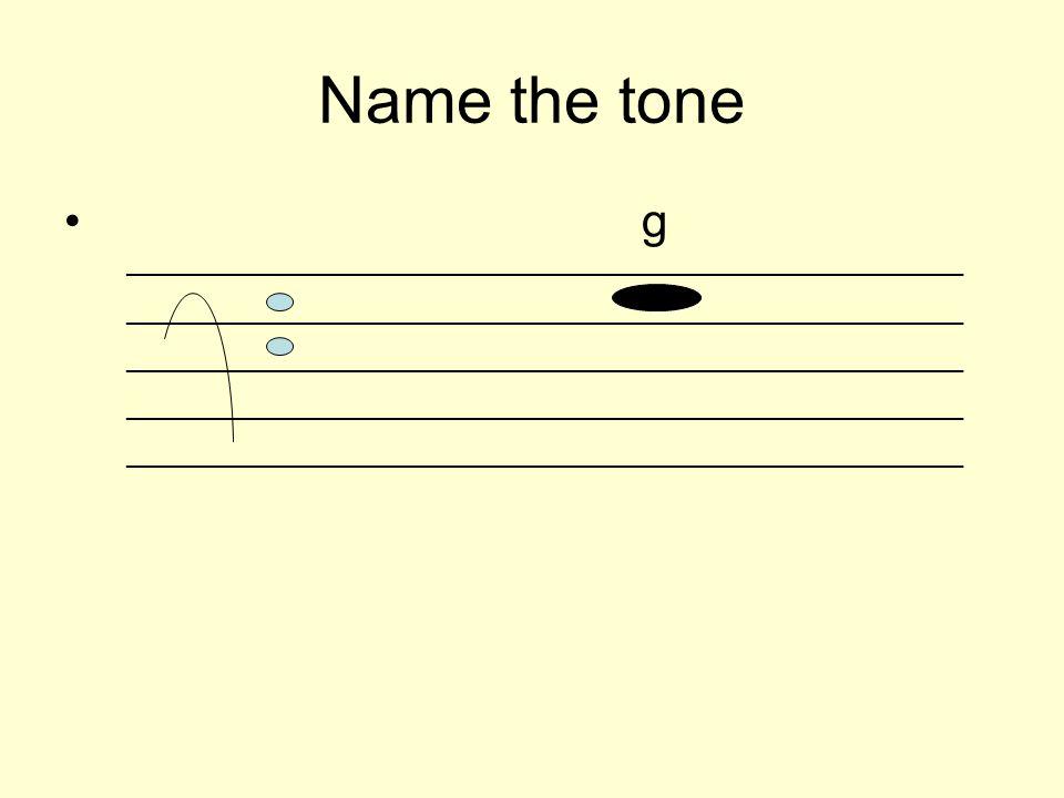 Name the tone g _________________________________________________________