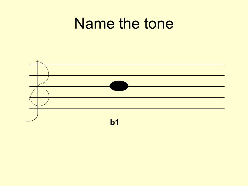 Name the tone _________________________________________________________ b1