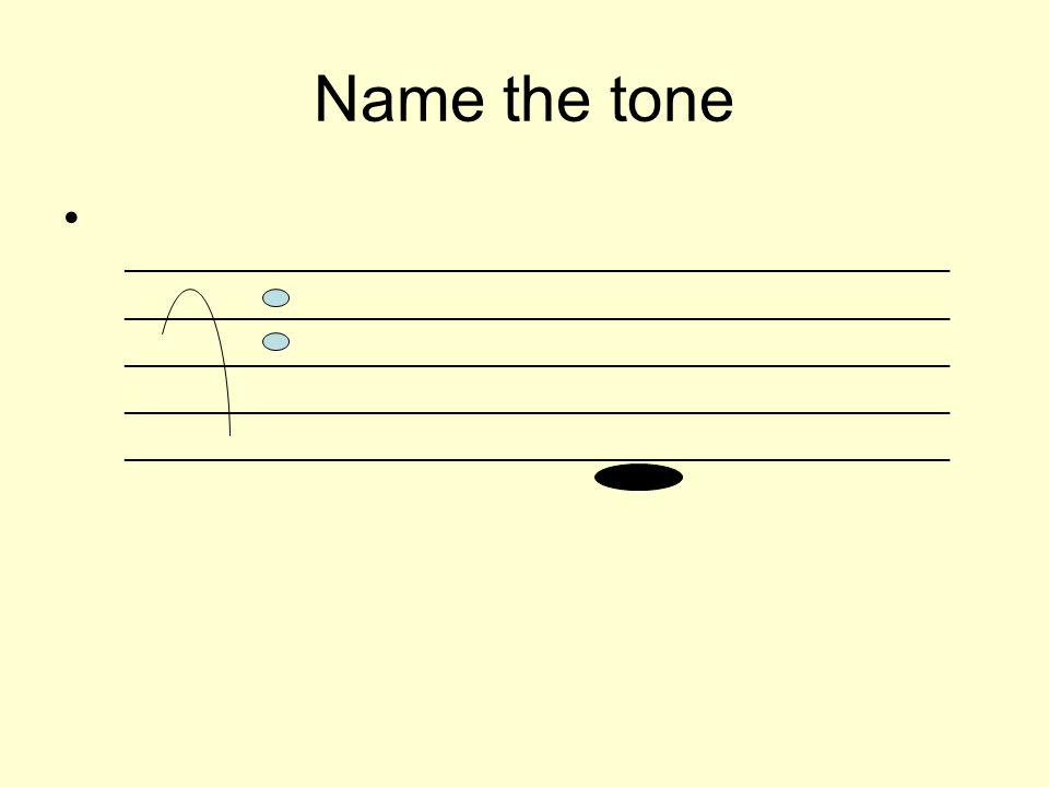 Name the tone _________________________________________________________