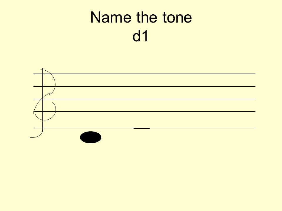 Name the tone d1 _________________________________________________________ __________________________ ___ ___________________________