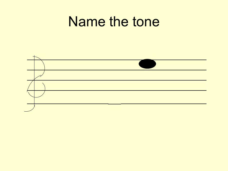 Name the tone _________________________________________________________ __________________________ ___ ___________________________
